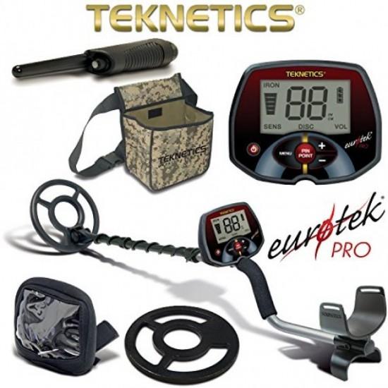 Металотърсач Teknetics Eurotek PRO + Аксесоари + Безплатна доставка + 5 подаръка на най-ниска цена