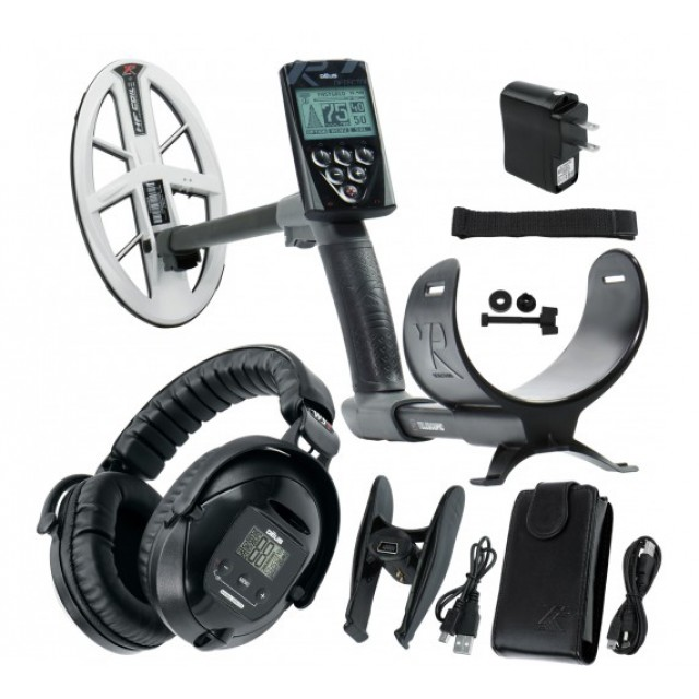 Металотърсач XP DEUS v.5, безжични слушалки WS5, RC (дистанционно устройство), сонда HF DD 22,5 см