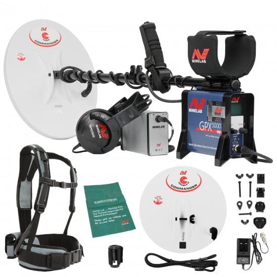 Металотърсач Minelab GPX-5000 + 2 Minelab Commander сонди + Безплатна доставка + 6 подаръка + Най-ниска цена