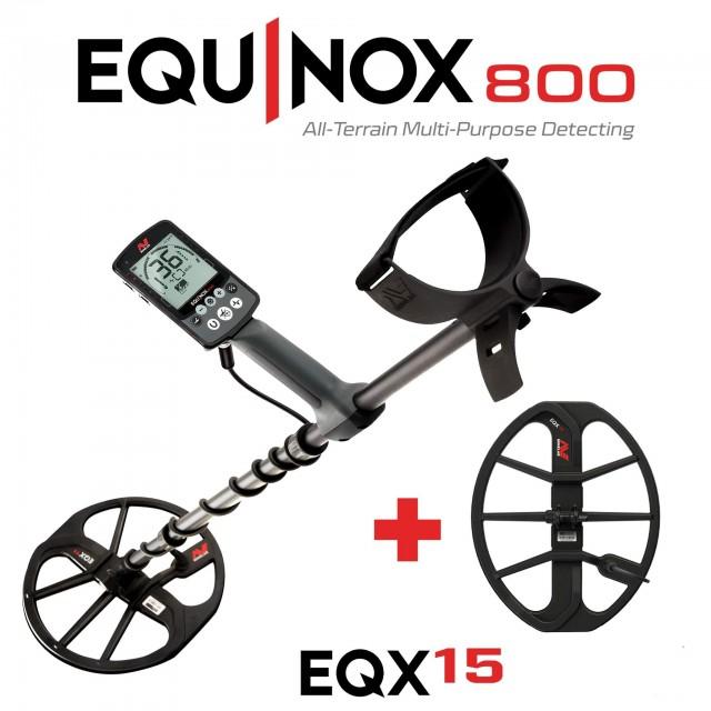"Металотърсач Minelab Equinox 800 + 15"" Double-D EQX coil"