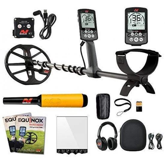 Металотърсач Minelab EQUINOX 800 + Minelab Pro-Find 20 + Безплатна доставка + 5 подаръка + Най-ниска цена