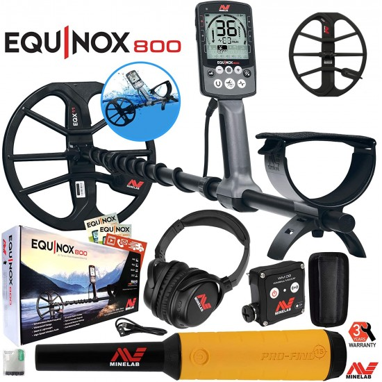 """Металотърсач Minelab EQUINOX 800 + Minelab Pro-Find 35 + 15"""" EQX coil + Безплатна доставка + 5 подаръка + Най-ниска цена"""
