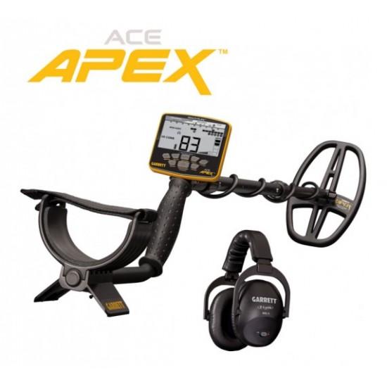Металотърсач Garrett ACE APEX + Garrett MS3 (безжични слушалки) + Безплатна доставка + 5 подаръка + Най-ниска цена