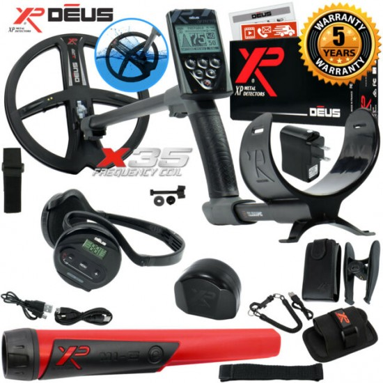 Металотърсач XP DEUS v.5, безжични слушалки WS4, RC (дистанционно устройство), сонда X35 28 см + Безплатна доставка + 5 подаръка + Най-добра цена
