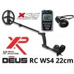 Металотърсач XP DEUS v. 5, безжични слушалки WS4, RC (дистанционно устройство), сонда X35 22 см