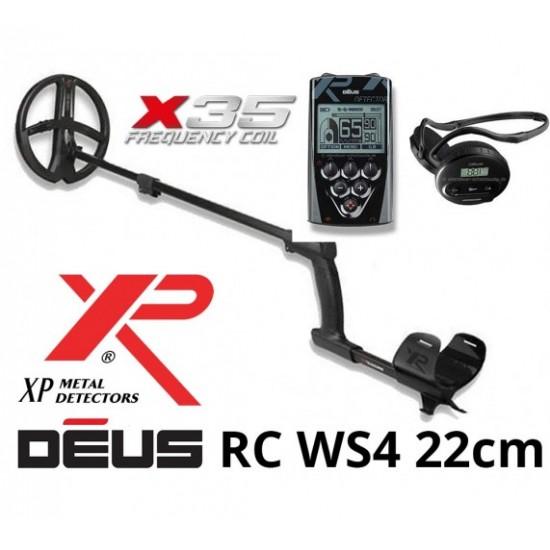 Металотърсач XP DEUS v. 5, безжични слушалки WS4, RC (дистанционно устройство), сонда X35 22 см + Безплатна доставка + 5 подаръка + Най-добра цена