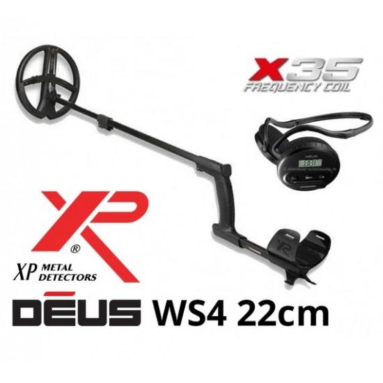 "Металотърсач XP DEUS v. 5 + WS4 + сонда Deus X35 22,5 см. (9"") + Безплатна доставка + 5 подаръка + Най-ниска цена"
