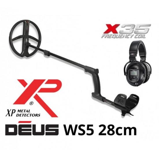 Металотърсач XP DEUS v. 5, безжични слушалки WS5, сонда X35 28 см + Безплатна доставка + 5 подаръка + Най-добра цена