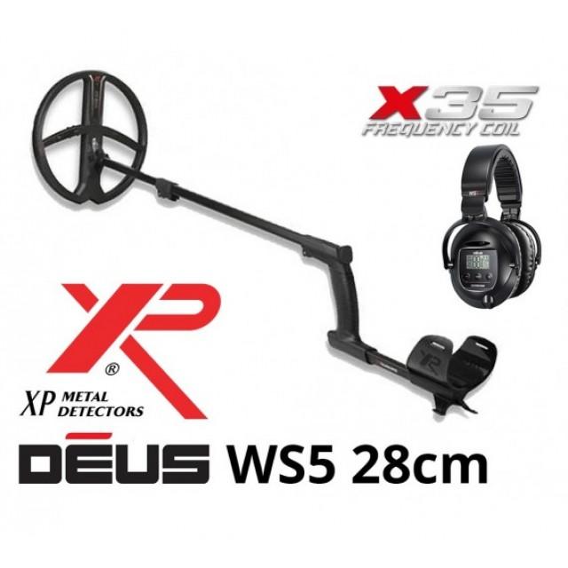 Металотърсач XP DEUS v. 5, безжични слушалки WS5, сонда X35 28 см