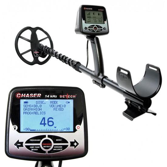 Металотърсач Detech Chaser VLF 14 kHz + Безплатна доставка + 5 подаръка + Най-добра цена