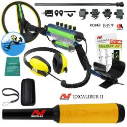Металотърсач Minelab Excalibur II + пинпойнтер Pro-Find 35 + Безплатна доставка + 5 подаръка + Най-ниска цена