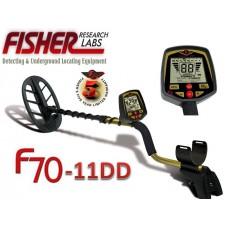 Металотърсач Fisher F70  11DD + Подаръци и Безплатна доставка
