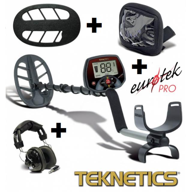 Металотърсач Teknetics Eurotek Pro 11DD (втора употреба) + слушалки Teknetics